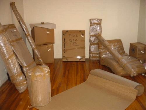 Коробки при переезде